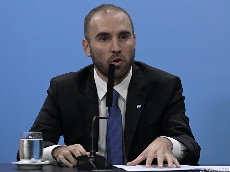Wirtschaftsminister Martin Guzman will verhandeln
