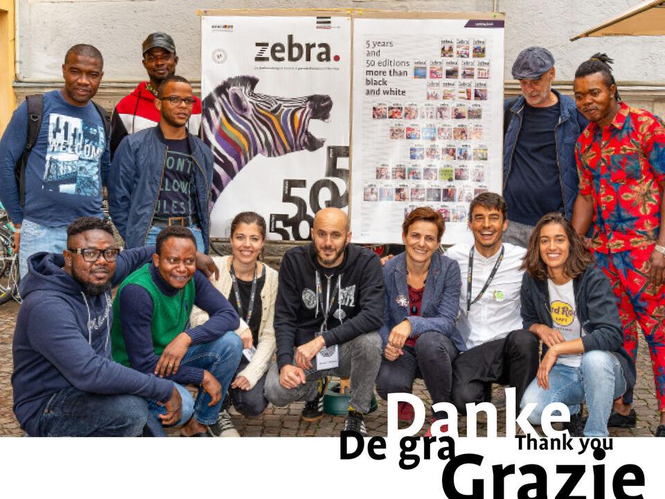 zebra_Danke Grazie Thank You De Gra