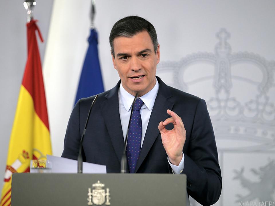 Appell des spanischen Regierungschefs Pedro Sánchez