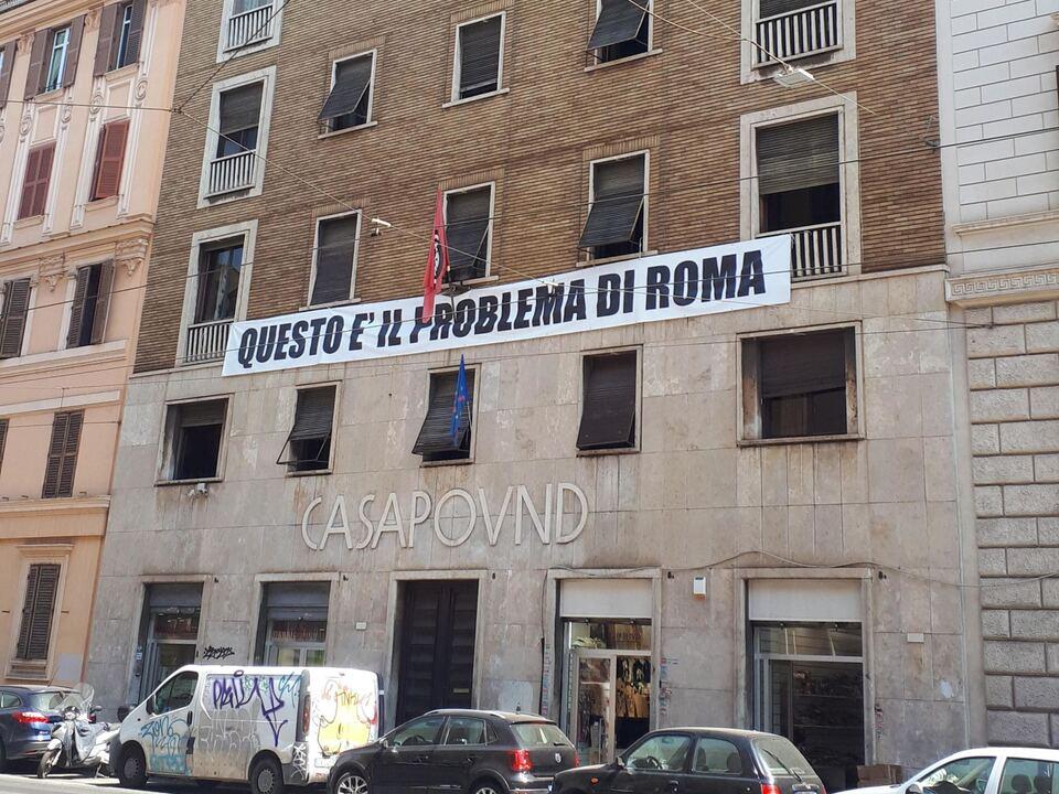 casapound, rom, faschismus, neofaschismus, athesiadruck2_2020060421370010