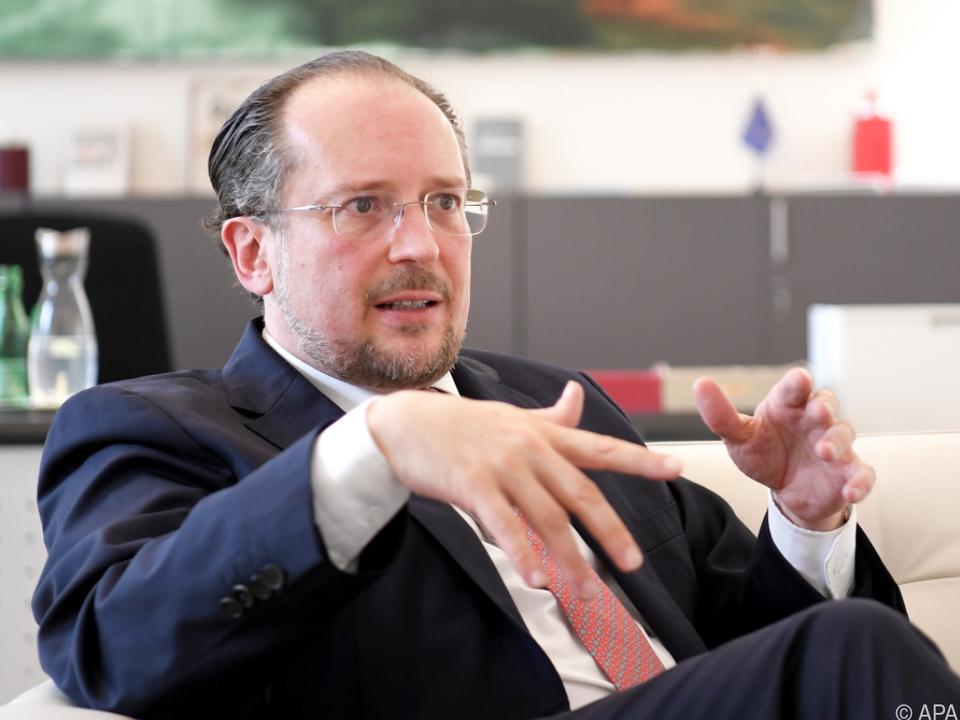 Außenminister Schallenberg im Interview