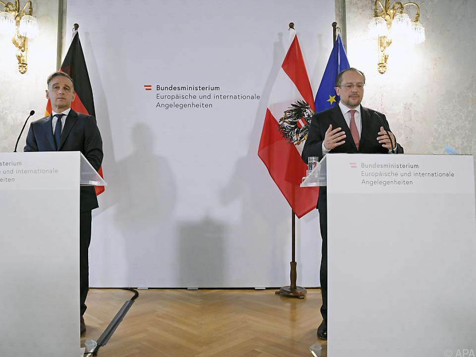Außenminister Schallenberg und sein deutscher Amtskollege Heiko Maas