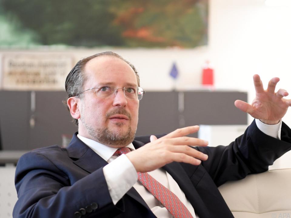 Außenminister Schallenberg: Unterschiedliche Meinungen \