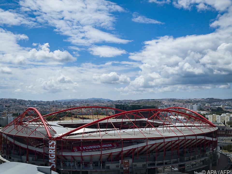 Blick auf das Stadion Luz in Lissabon