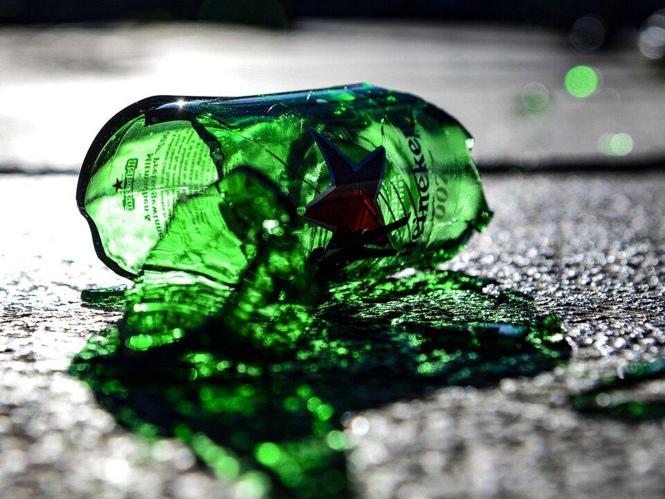 zerbrochene Flasche