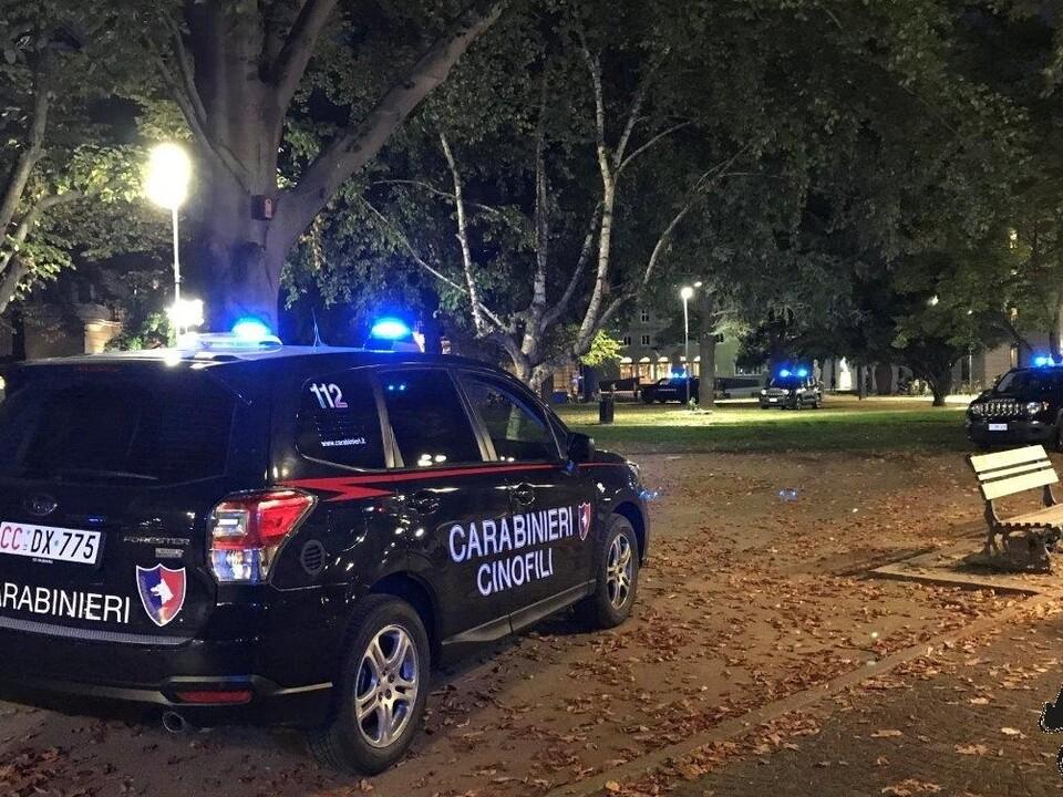 Carabinieri Hundestaffel Park Nacht