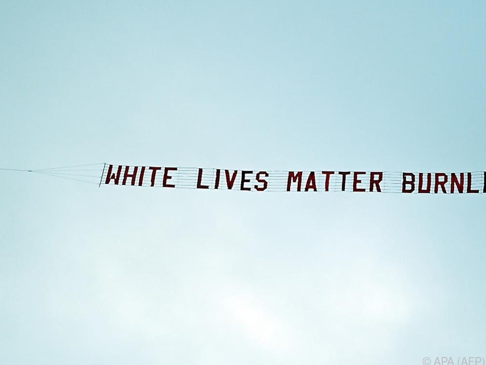 Das rassistische Banner empörte beide Clubs