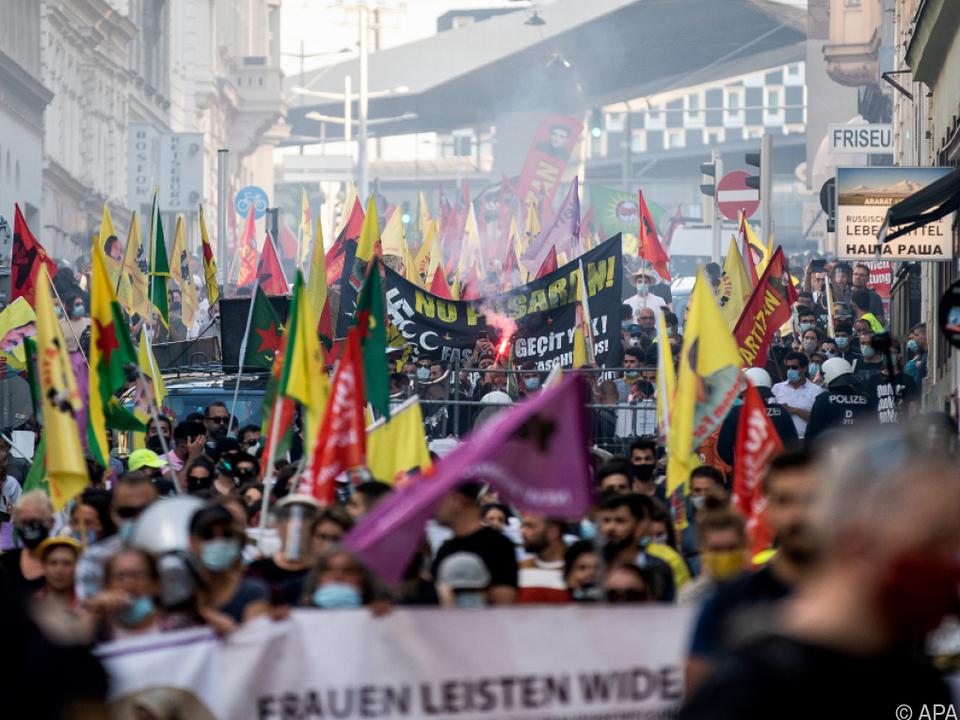 Demos belasten Verhältnis zwischen Wien und Ankara