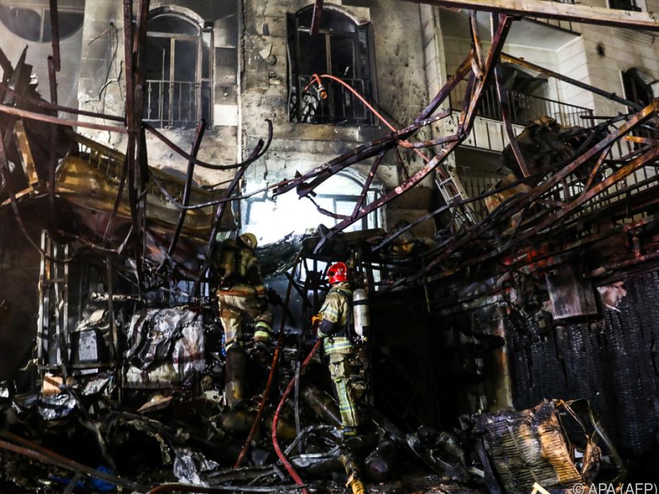 Den Helfern bot sich ein Bild vollkommener Zerstörung