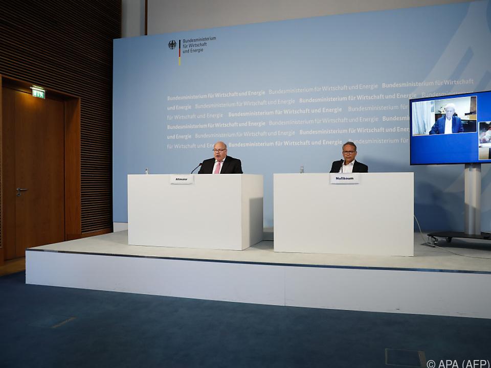 Der deutsche Wirtschaftsminister Altmaier verkündete den Einstieg