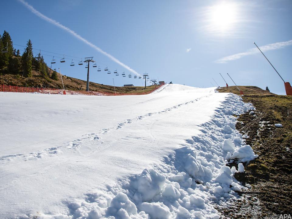 Der Schnee war zunächst Mangelware, am Ende die Touristen