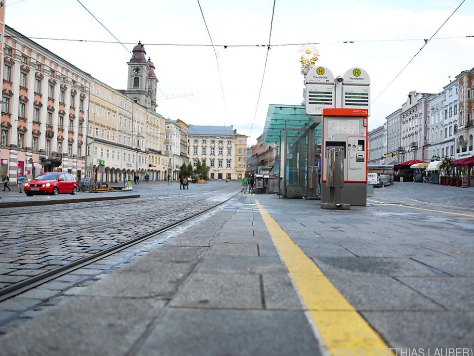 Der Tatort am Linzer Hauptplatz