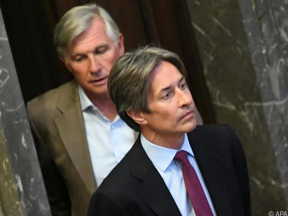 Die Angeklagten Walter Meischberger und Karl-Heinz Grasser