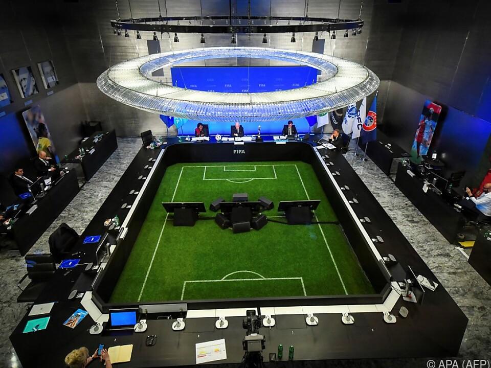 Die FIFA tagte medienwirksam