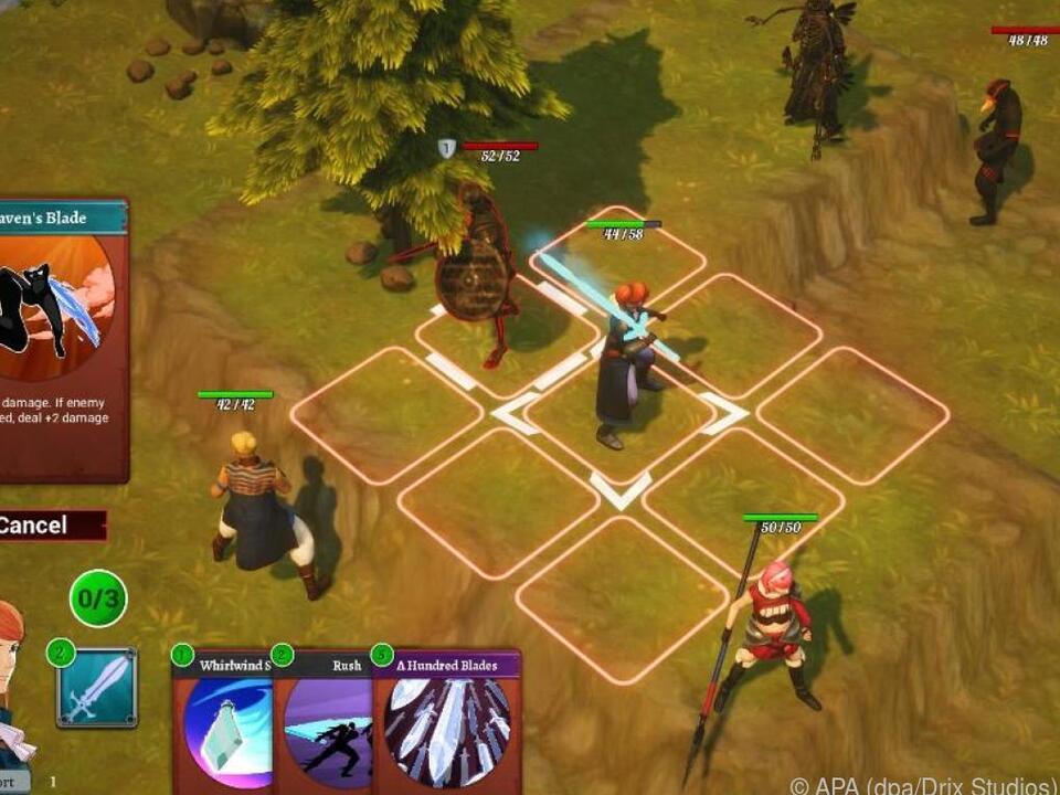 Welche Aktionen eine Spielfigur ausführt, legt man mit Kartenkombinationen fest