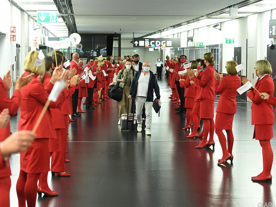 Die Passagiere wurden freudig begrüßt