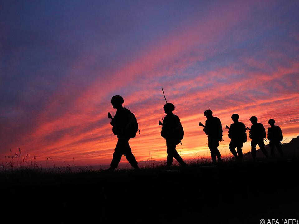 Die Soldaten sind in höchster Alarmbereitschaft