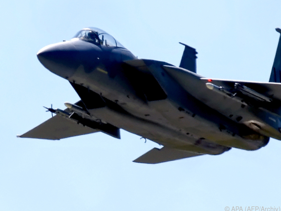 Ein Jet vom Typ F-15C stürzte ab