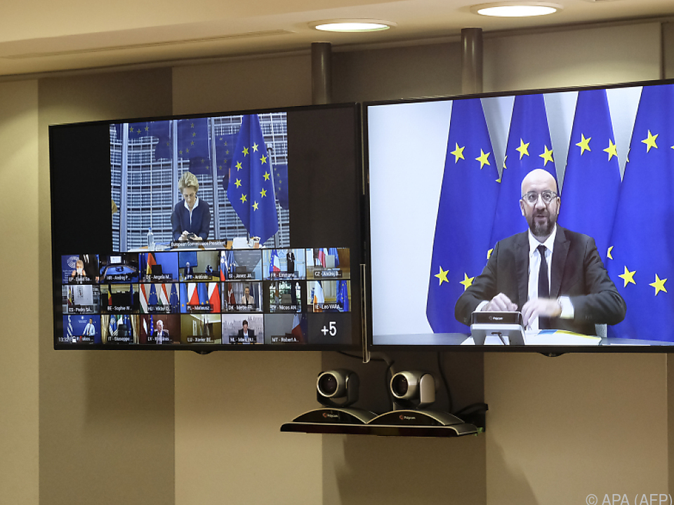 EU-Gipfel in Corona-Zeiten via Videoschaltung
