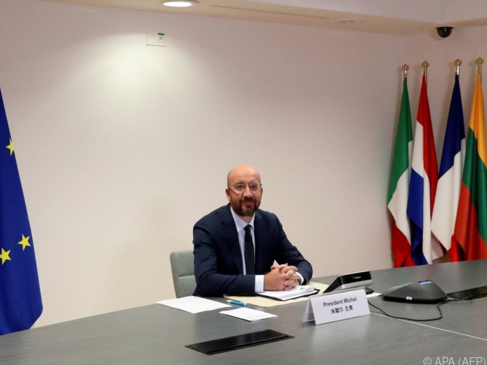 EU-Ratspräsident Michel nimmt an den Gesprächen mit China teil
