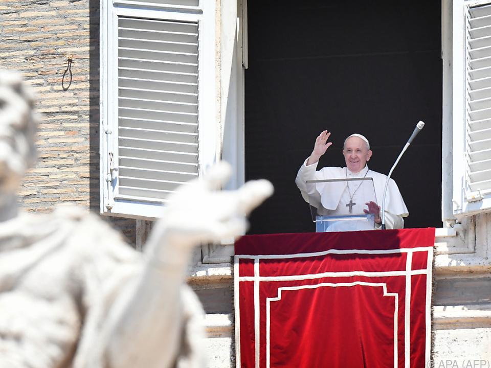 Franziskus hielt seine Ansprache erneut am Fenster