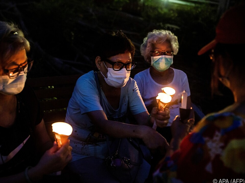 Gedenken in Hongkong