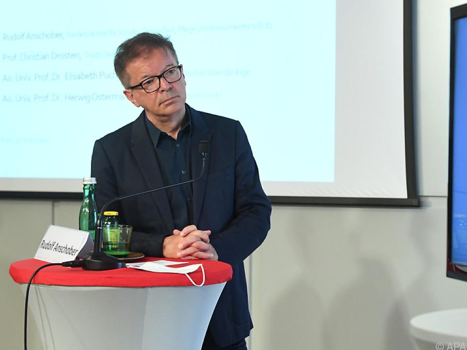 Gesundheitsminister Rudolf Anschober und Virologe Christian Drosten