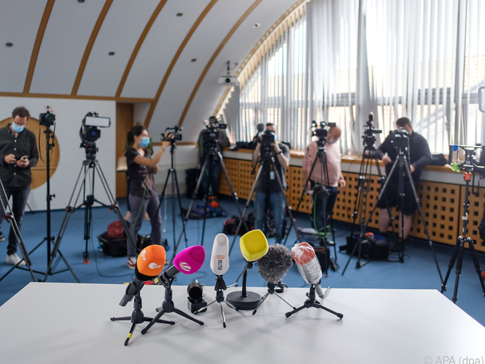 Großes Medieninteresse im \