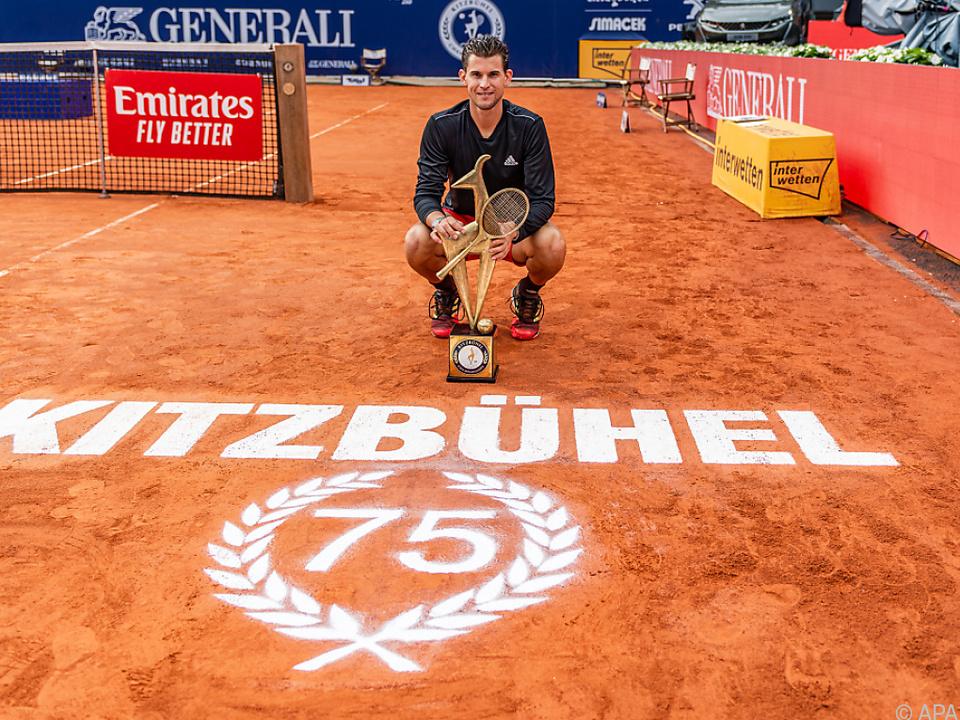 Im Vorjahr gewann Dominik Thiem in Kitzbühel