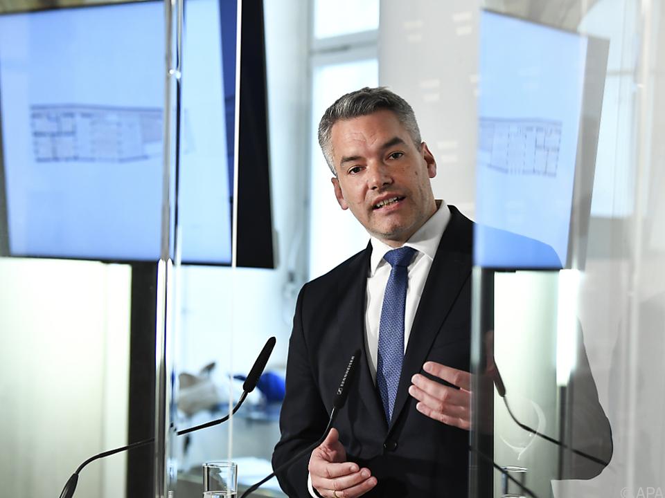 Innenminister Nehammer präsentierte den Sieger-Entwurf