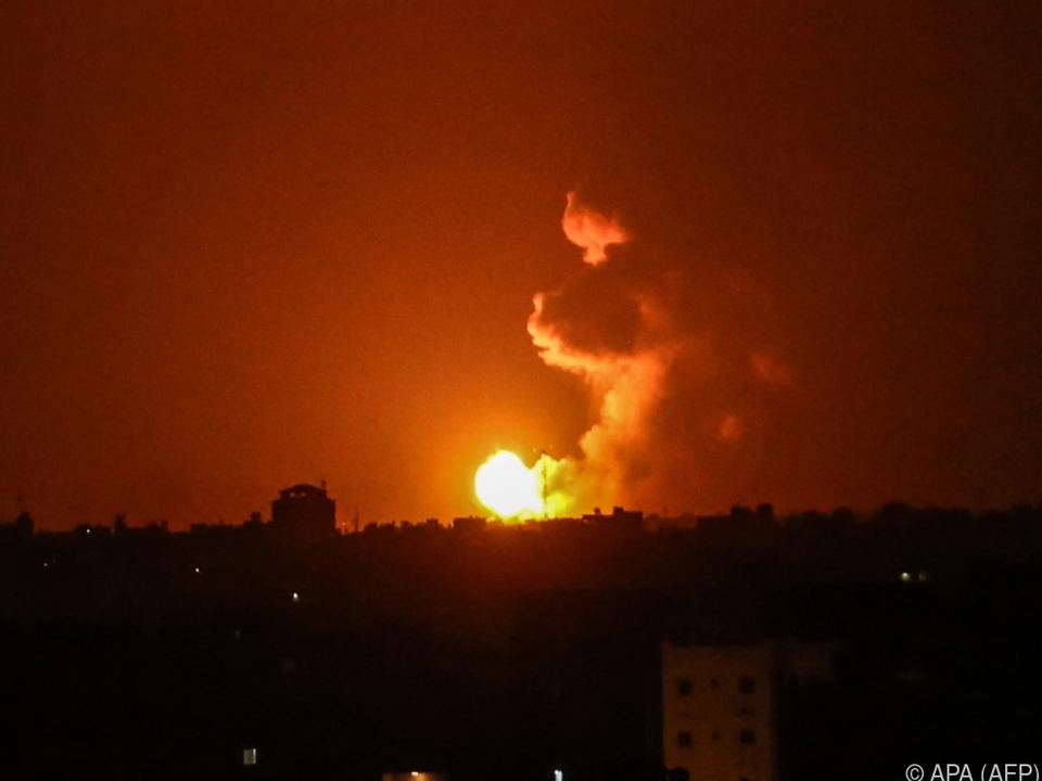 Israel feuerte zurück