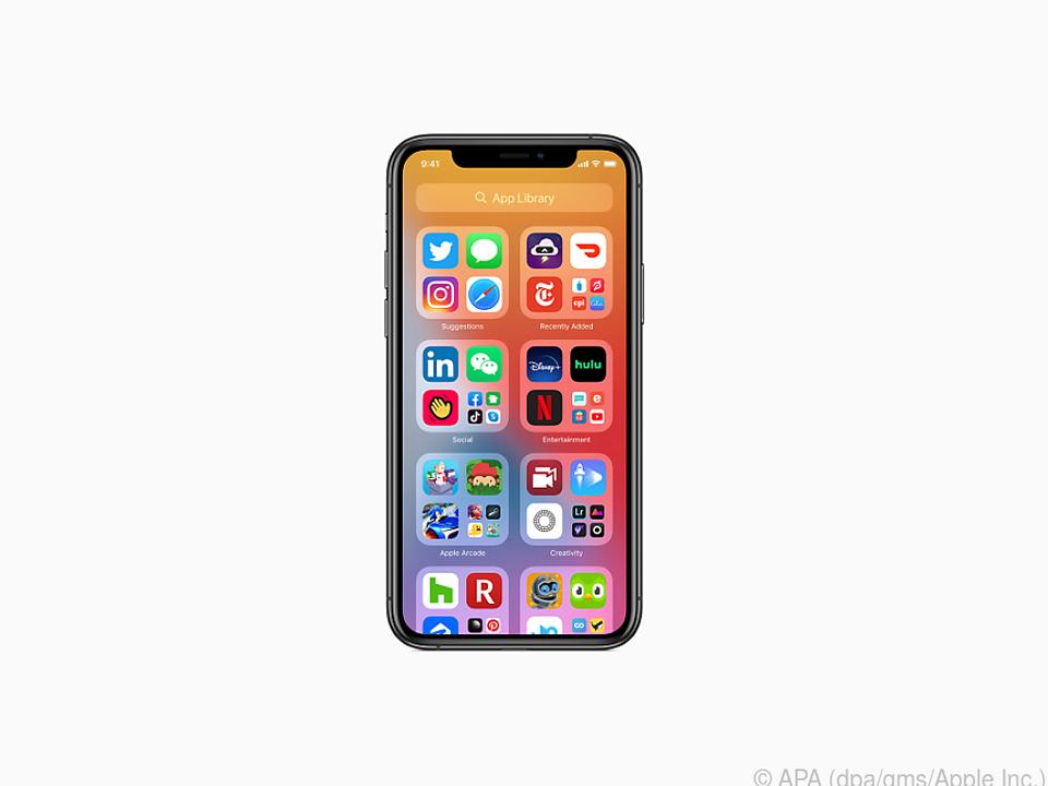 Die neue App Library kann die Apps auf dem iPhone automatisch sortieren