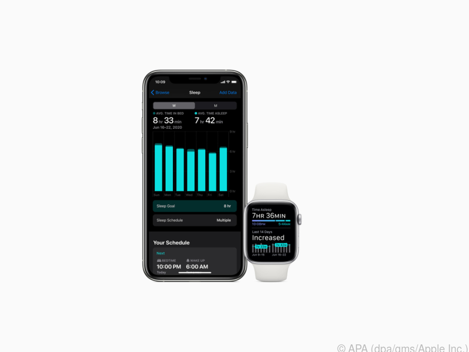 Die Apple Watch kann jetzt ohne Zusatz-Software als Schlaf-Tracker dienen