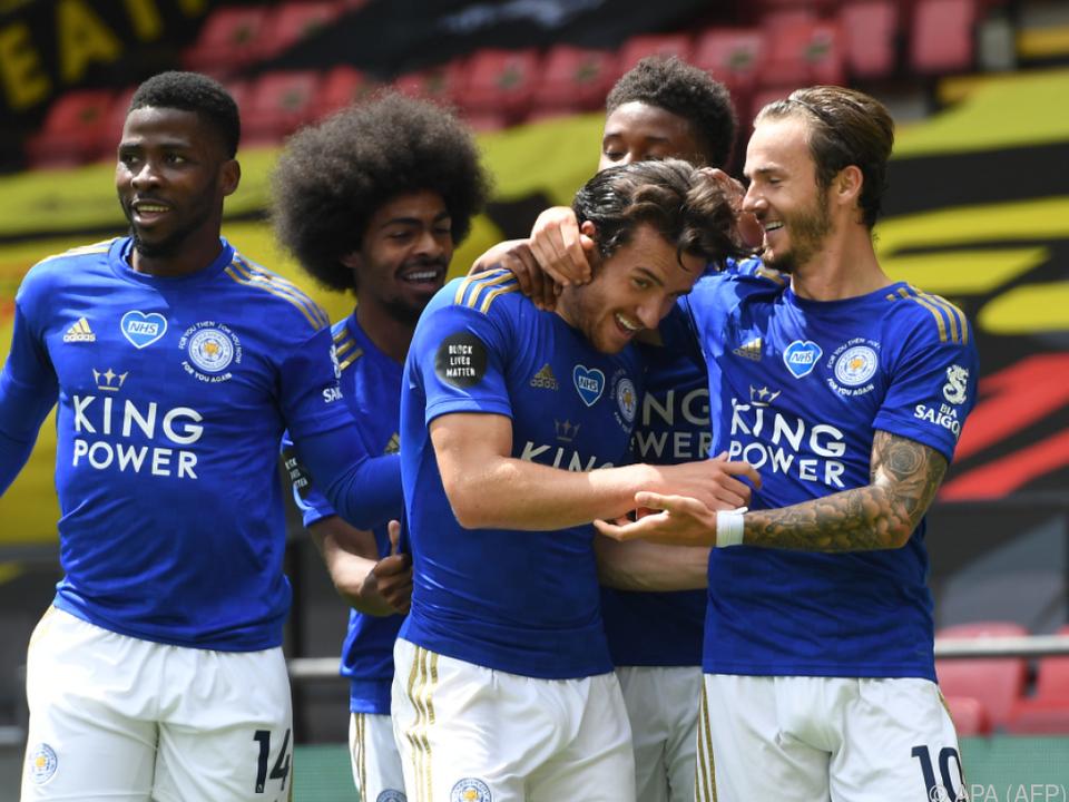 Leicester jubelte nur kurz über den späten Führungstreffer
