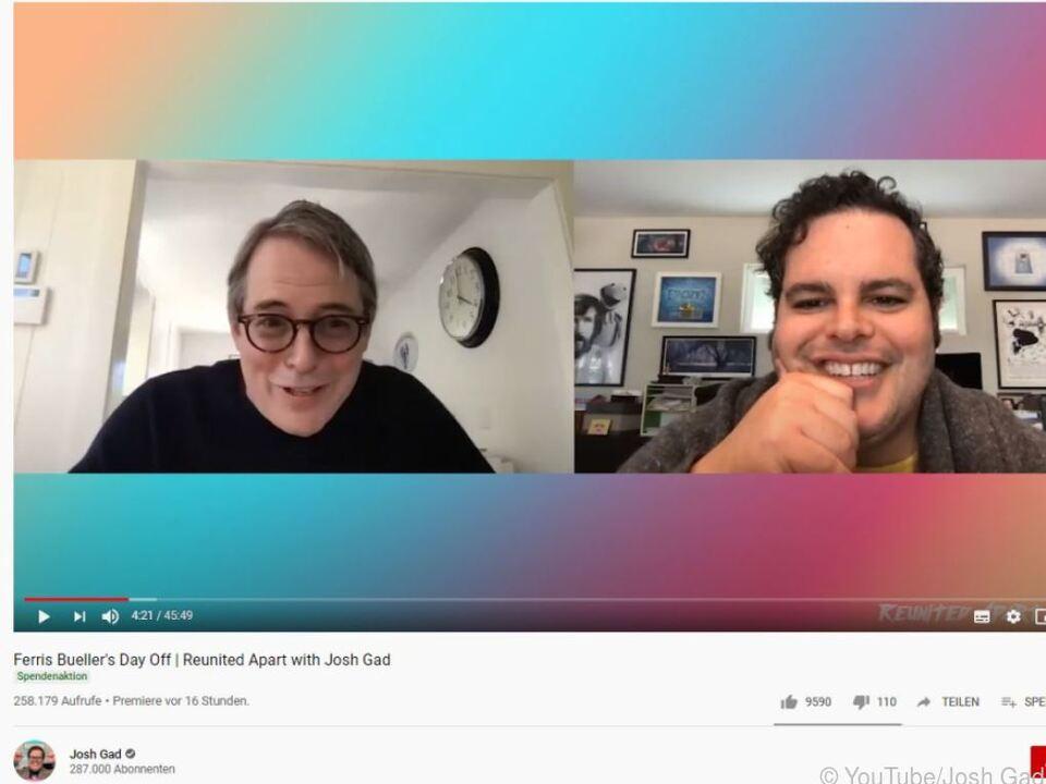 Matthew Broderick im Gespräch mit Josh Gad