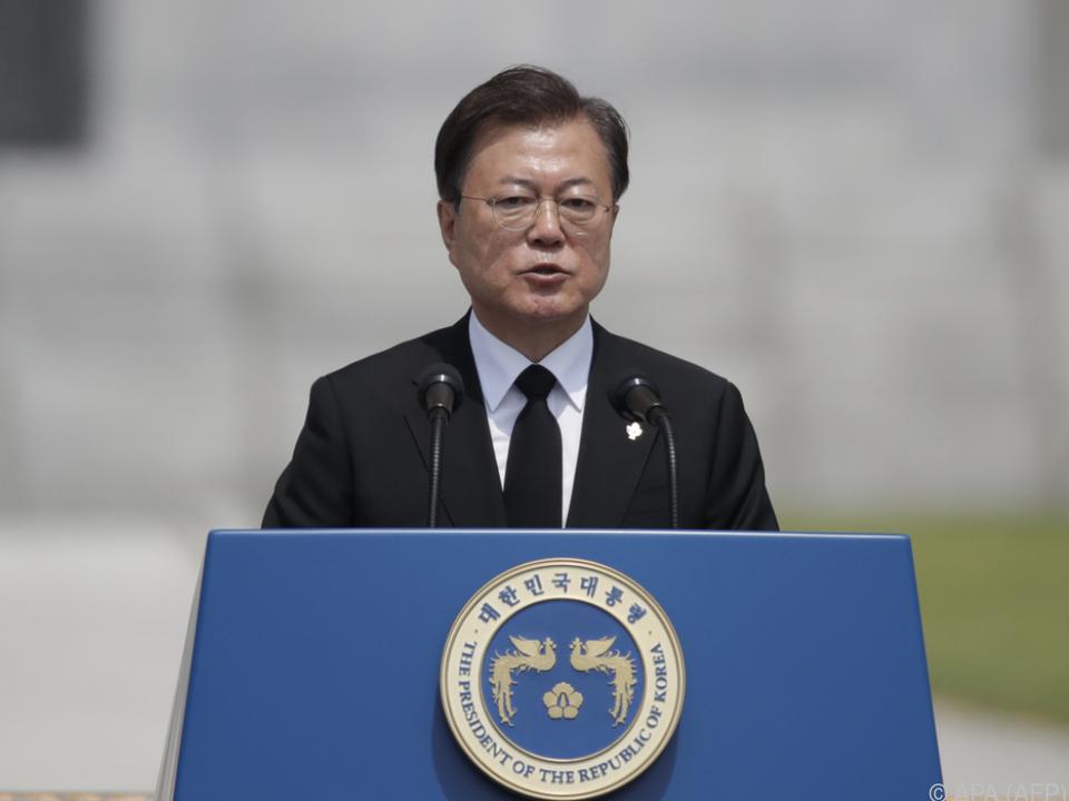 Moon Jae-in fordert zur Deeskalation auf