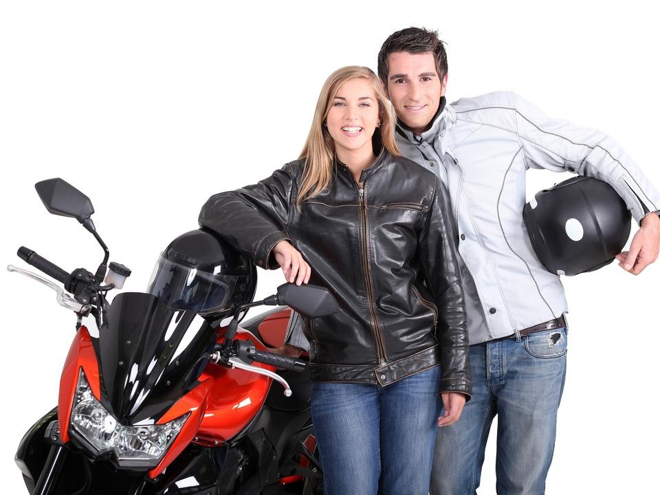 Motorrad Biker Paar