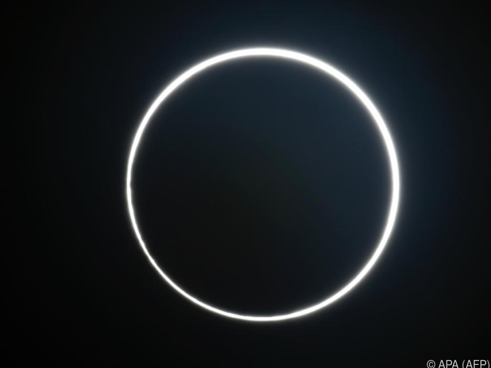 Ringförmige Sonnenfinsternis über Afrika und Asien