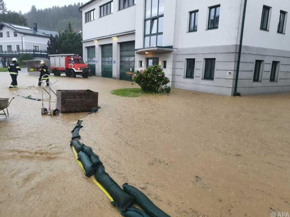 Starkregen und Überflutungen in Niederösterreich