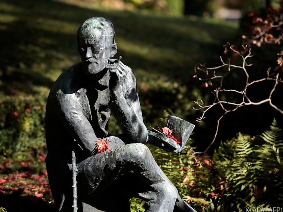 Statue von James Joyce in Zürich