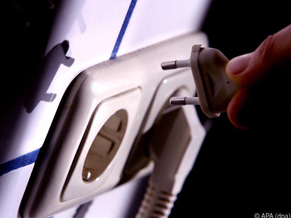 Stromverbrauch sank um 13 Prozent