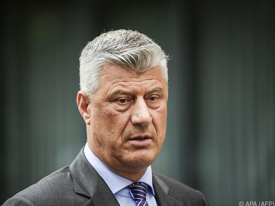 Thaci muss sich vor dem Gericht in Den Haag verantworten
