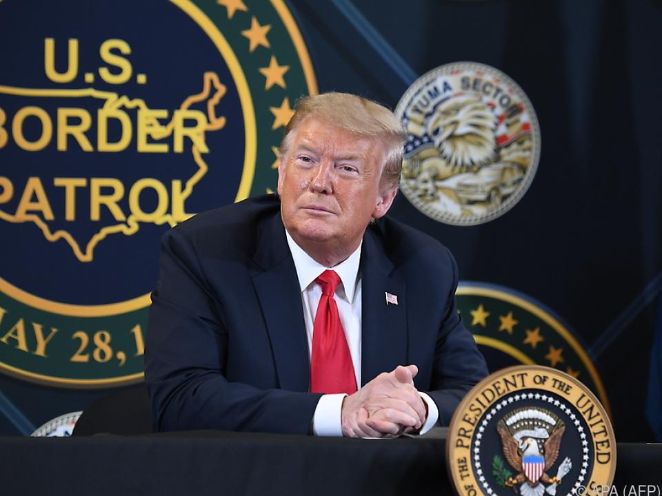 Trump zeigte sich mit der Entwicklung zufrieden