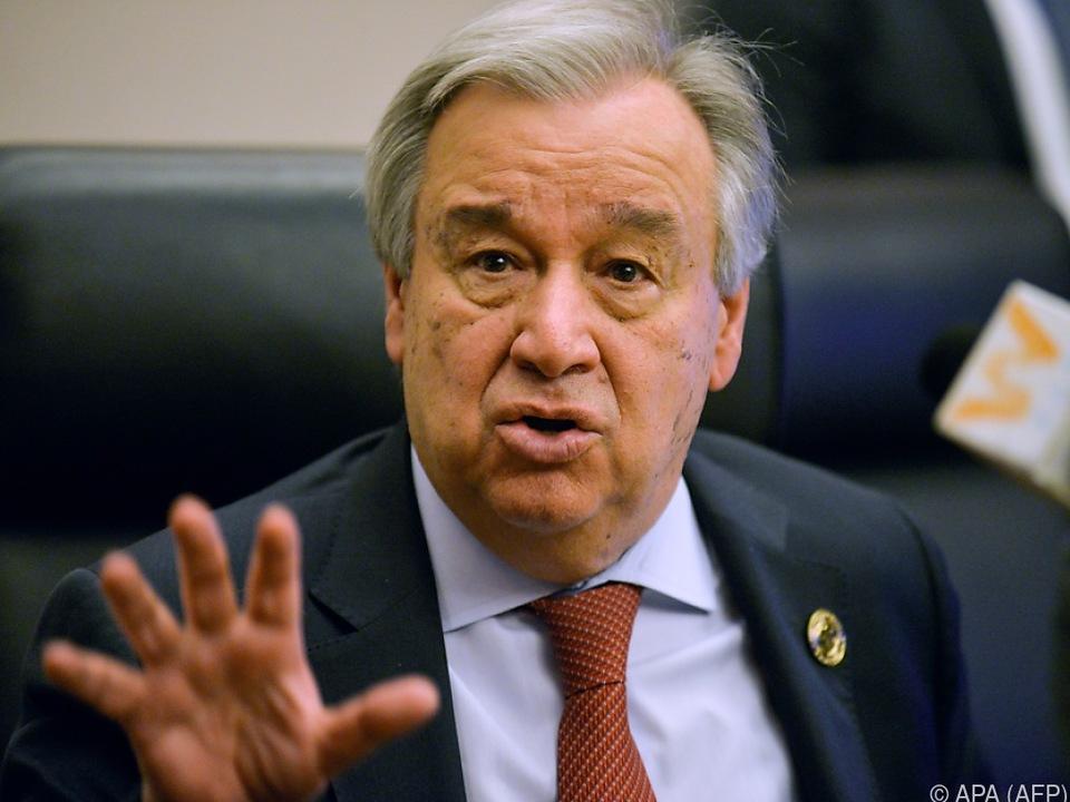 UNO-Generalsekretär António Guterres hofft auf \