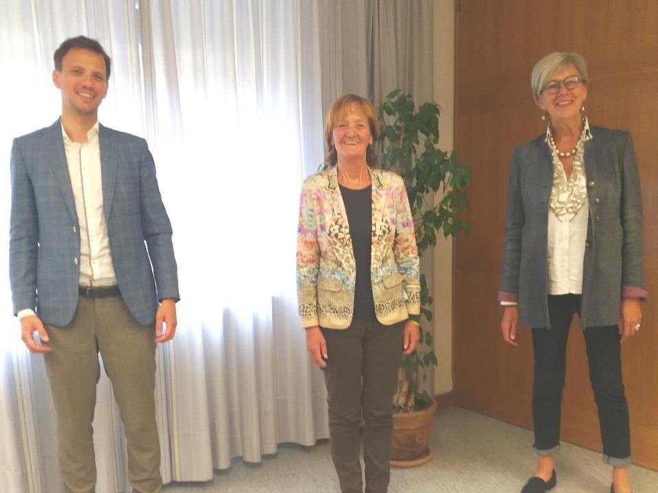 v.l. Jakob Brugger - Martha Stocker - Sabina Kasslatter-Mur
