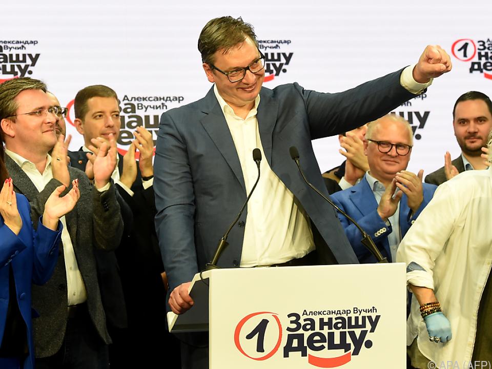Vucic ging als Sieger aus der Wahl hervor