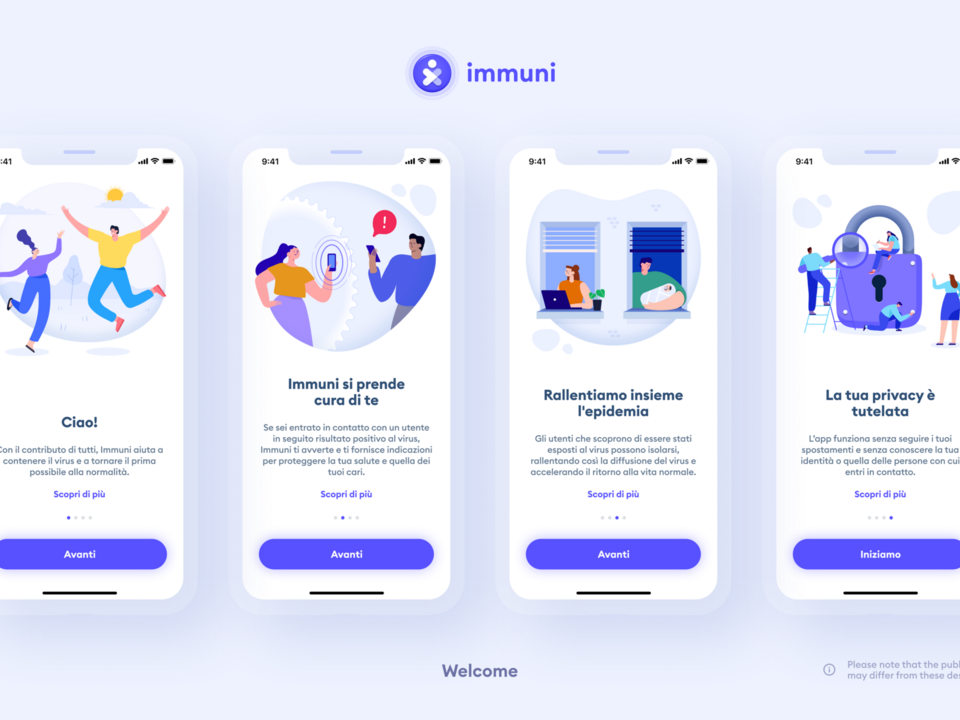 Welcome App Immuni