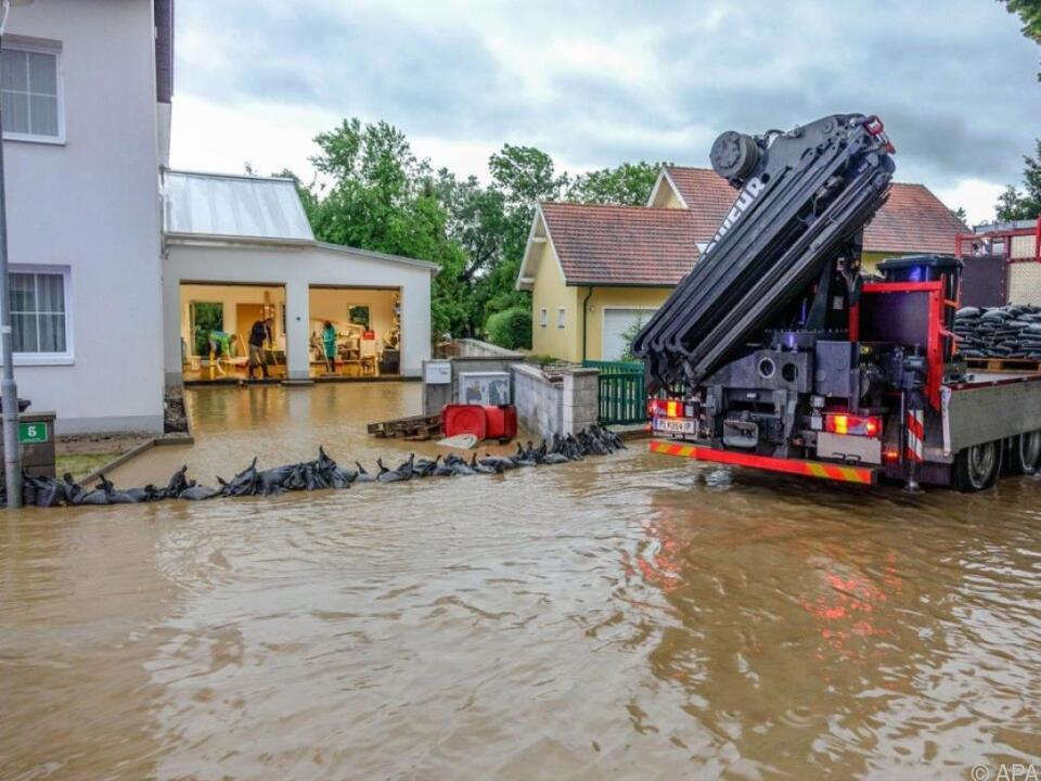 Zahlreiche Keller und Garagen wurden überflutet