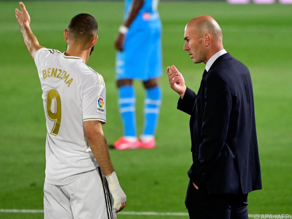 Zufrieden ist Zidane erst dann, wenn alles perfekt läuft