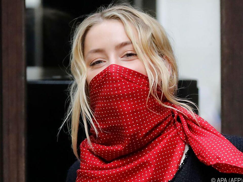 Amber Heard beim Eintreffen vor dem Gericht in London